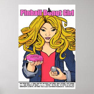 Full Size PInball Donut Girl Film Poster