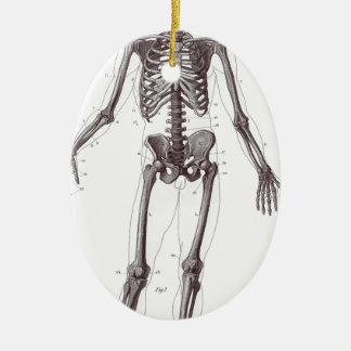 Full Skeleton Ceramic Ornament