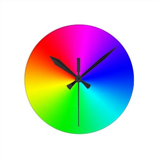 Full Spectrum Rainbow Round Wallclock
