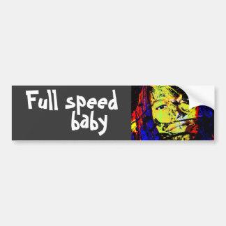 full speed baby car bumper sticker