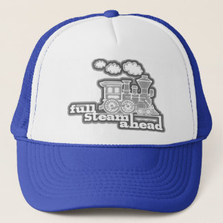 """full steam ahead"" loco train mono hat"