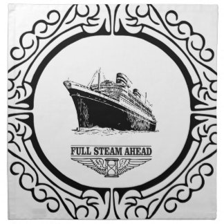 full steam ahead napkin