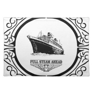 full steam ahead placemat