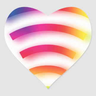 Full Strength WIFI Heart Sticker