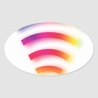 Full Strength WIFI Oval Sticker