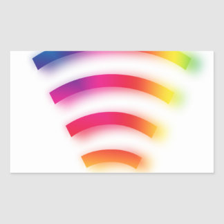Full Strength WIFI Rectangular Sticker