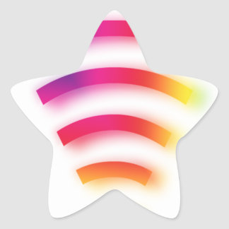 Full Strength WIFI Star Sticker