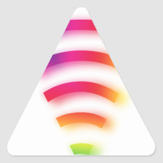 Full Strength WIFI Triangle Sticker