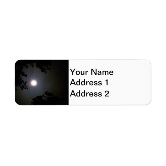 Full Supermoon In The Mist Return Address Label