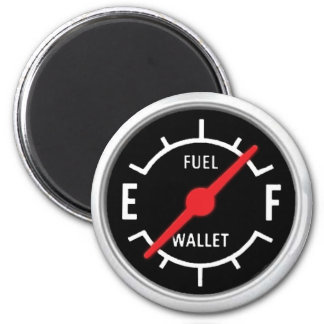 Full tank, Empty wallet 6 Cm Round Magnet