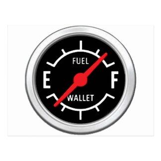 Full tank, Empty wallet Postcard
