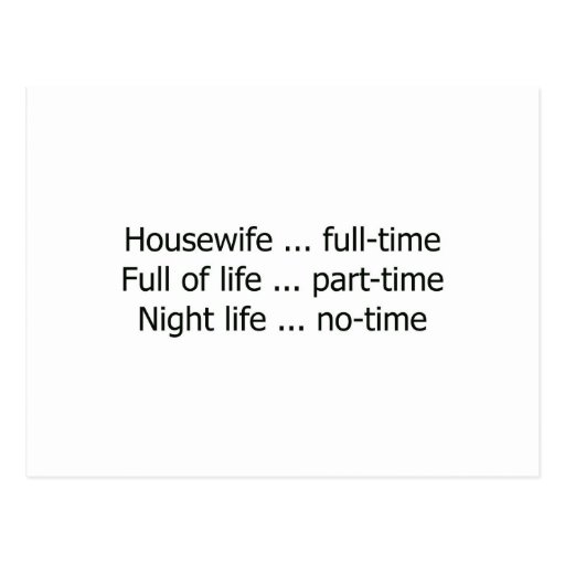 Full-Time Housewife Post Cards