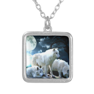 Full Wolf Moon Silver Plated Necklace