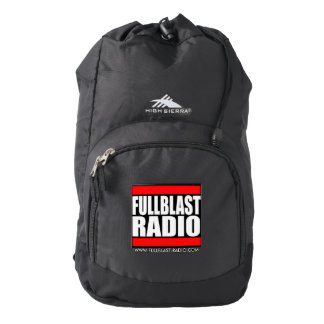 Fullblast Radio Custom High Sierra Backpack, Black Backpack