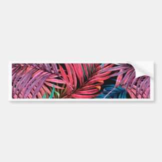 Fullcolor Palm Leaves Bumper Sticker