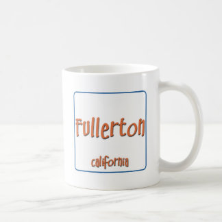 Fullerton California BlueBox Basic White Mug