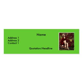 FullFigureLady-1-2004-Notecard Pack Of Skinny Business Cards