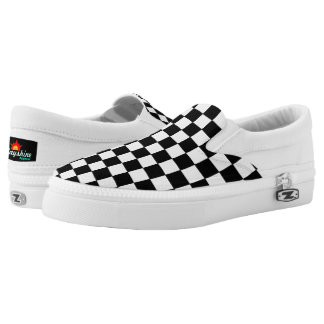 Fully Custom Color Checker Print SlipOns Printed Shoes