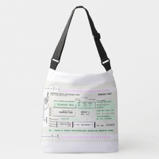 Fully Customizable Boarding Pass Crossbody Bag