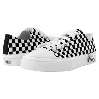 Fully Customizable Color Checker Print Low Top Printed Shoes