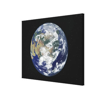 Fully lit Earth centered on Asia Canvas Print