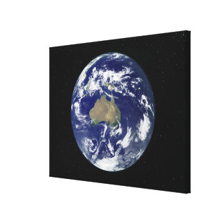 Fully lit Earth centered on Australia and Ocean Canvas Print