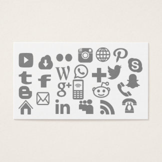 Fully personalized choose your social media icons business card