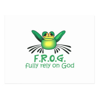 FULLY RELY ON GOD POSTCARD