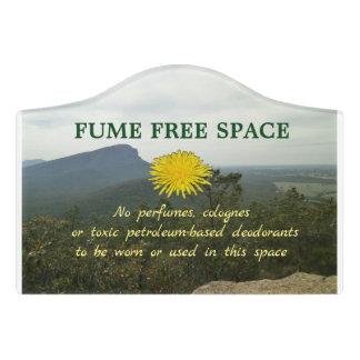 Fume Free Space door sign