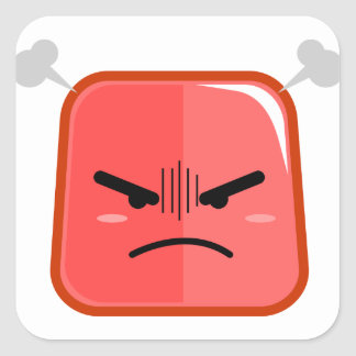 Fuming Angry Faced Red Emoji Sticker