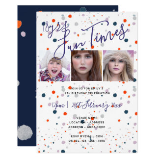 FUN 18th 21st 30th 40th Birthday Party Invitations