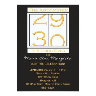 "Fun 30th Birthday Party Invitation 5"" X 7"" Invitation Card"