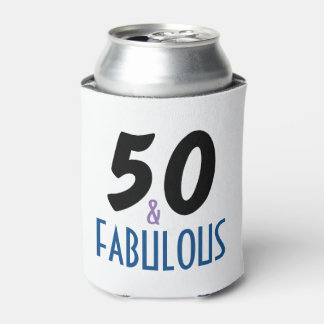 Fun 50 and Fabulous Birthday Can Cooler