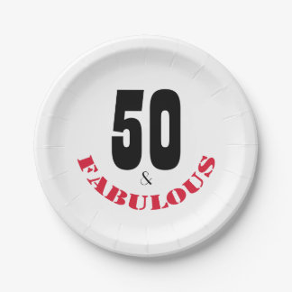 Fun 50 and Fabulous Birthday Party Paper Plate