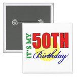 Fun 50th Birthday Party Gifts Pin
