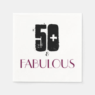 Fun 50th birthday party paper napkin
