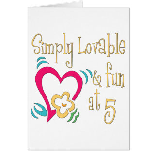 Fun 5th Birthday Gifts Card