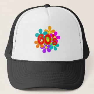 Fun 60's Flowers Trucker Hat