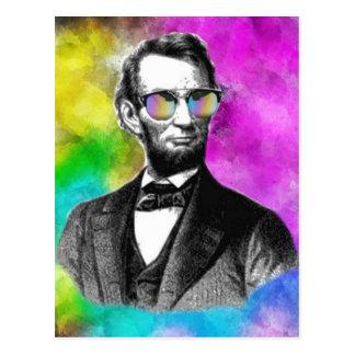 Fun Abraham Lincoln in Shades Postcard