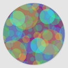 Fun Abstract Art Colourful Circles Classic Round Sticker