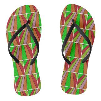 Fun Abstract Design Flip Flops