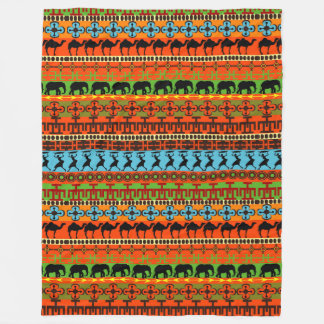 Fun African Tribal home office decor blanket