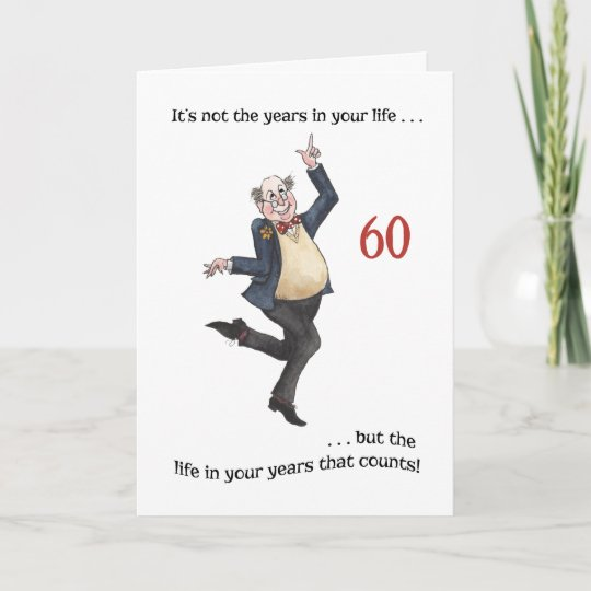 Funny 80th Birthday Wishes Fun Age Specific 60th Card For A Man