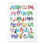 Fun Alphabet 5x7 Paper Invitation Card