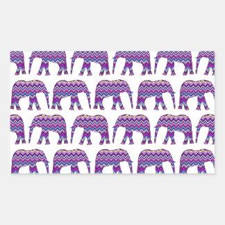 Fun and Bold Chevron Elephants on White Stickers