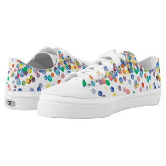 Fun and Colorful Confetti Low Tops