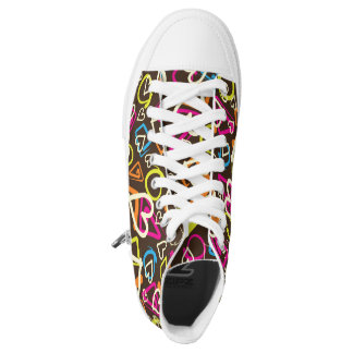 Fun and colorful hightop shoes for anybody printed shoes
