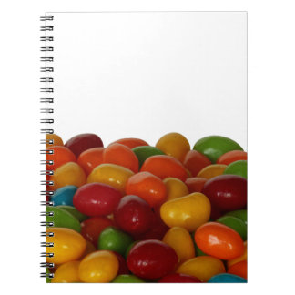 Fun and colorful jelly beans notebook
