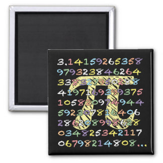 Fun and Colourful Chalkboard-Style Pi Calculated Magnet