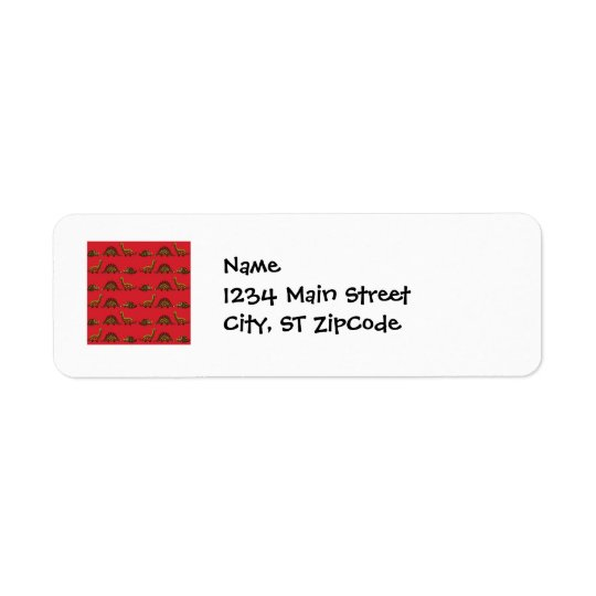 Fun and Colourful Dinosaur Pattern Return Address Label